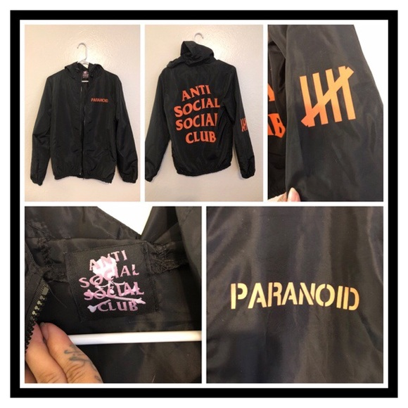 41a44b25a00f Anti Social Social Club Jackets   Blazers - Antisocial x Undefeated  Windbreaker